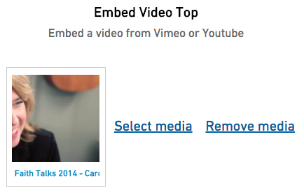 Embed video field with thumbnail of video