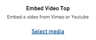 form element for embedding video