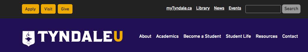 University College header screenshot